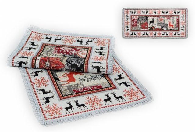 Дорожка на стол Рождественская звезда БФ, гобелен